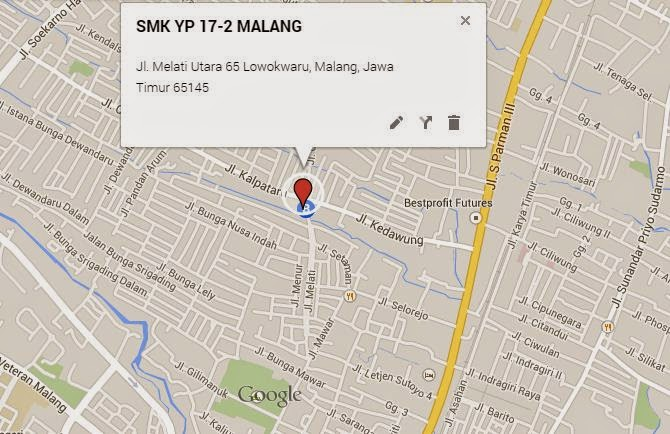 PETA LOKASI SMK YP17-2 MALANG, KLIK DI SINI UNTUK MEMPERBESAR GAMBAR