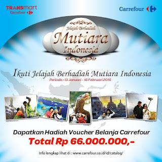 Info Kontes - Kontes Jelajah Berhadiah Voucher Belanja Carrefour Total 66 Juta