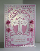 A Christening Card in Pink