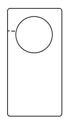 Free Blank Door Hanger Template