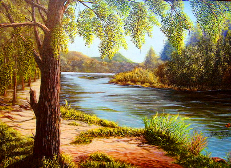 cuadros modernos paisajes al oleo