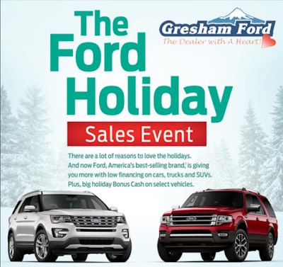 The Ford Holiday Sales Event at Gresham Ford