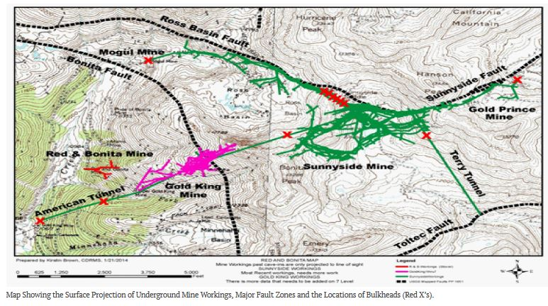 Arizona Geology Causes Of Gold King Mine Spill Emerging: Map Of Colorado Gold Mine Spill At Usa Maps