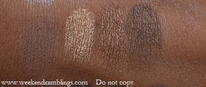 urban decay naked palette swatches Buck Half Baked Smog Darkhorse