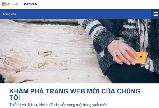 Trang web của Nokia VN chuyển sang địa chỉ Microsoft