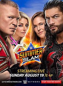 Poster Of WWE SummerSlam 19th August 2018 HDTV 480P 300MB