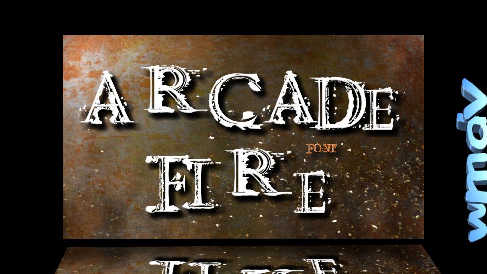 ArcadeFireFont cоздано в графическом редакторе Paint.NET