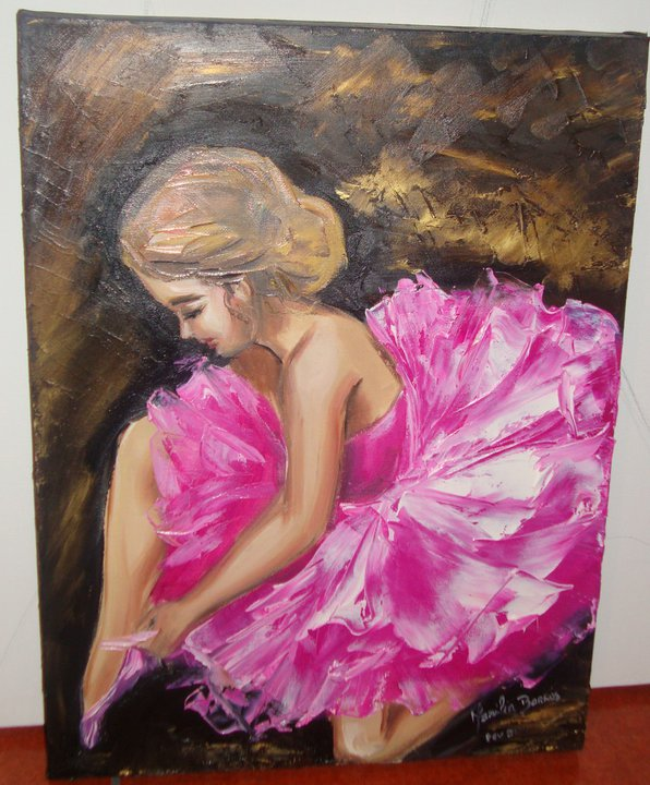 Pintura A Oleo   Encaixes Em Inox Pintura A Oleo Women Disponivel