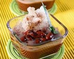 cara membuat / membikin minuman segar es kacang merah