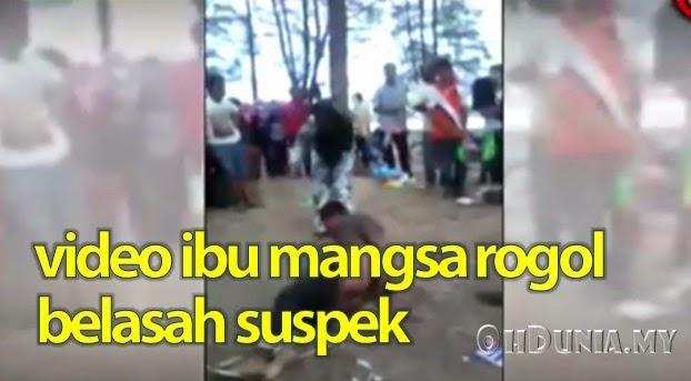 Video: Ibu Kepada Mangsa Rogol Belasah Suspek Perogol Anaknya