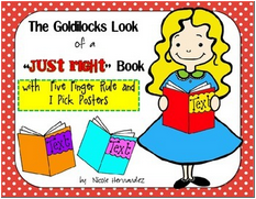 http://www.teacherspayteachers.com/Product/The-Goldilocks-Look-Posters-with-Five-Finger-Rule-and-I-Pick-Posters-1310681