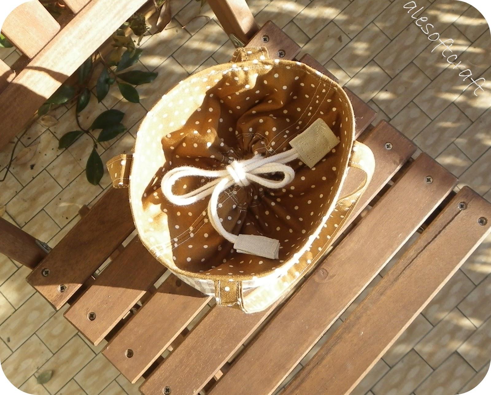 Ale soft craft secchiello zakka - Porta merenda bimbi ...
