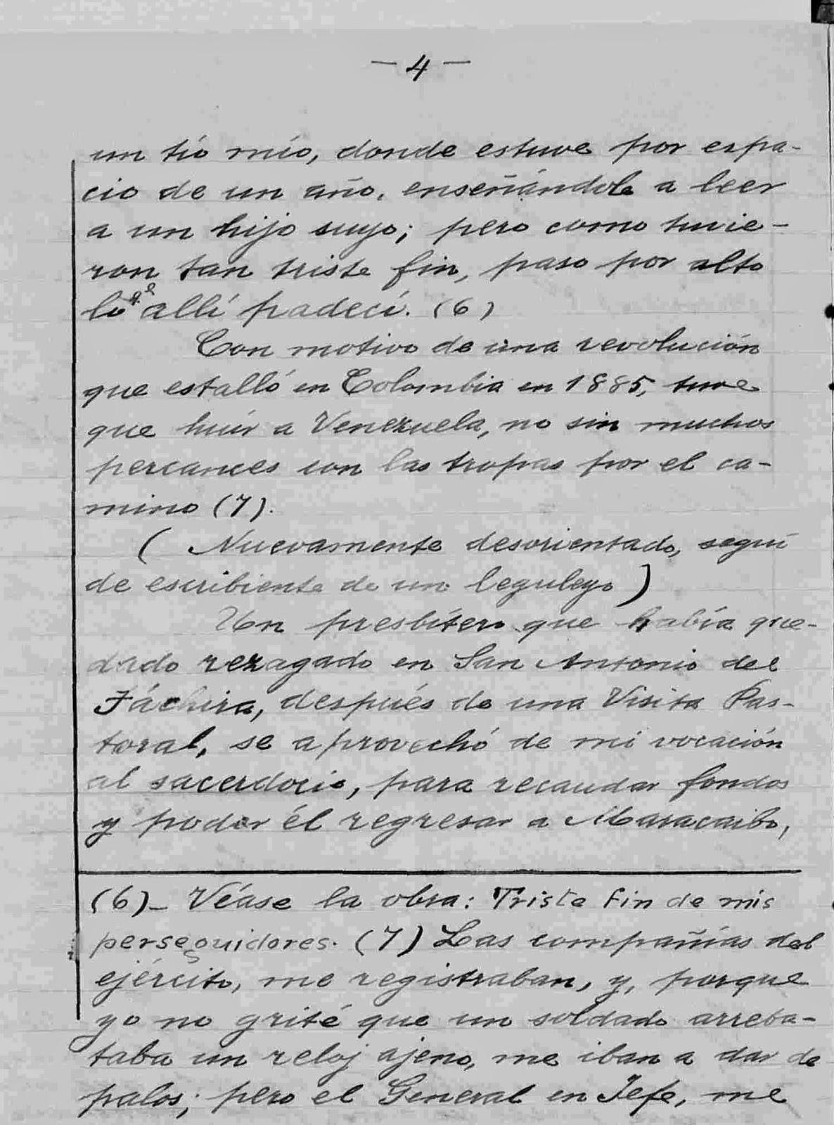 página 4 del manuscrito