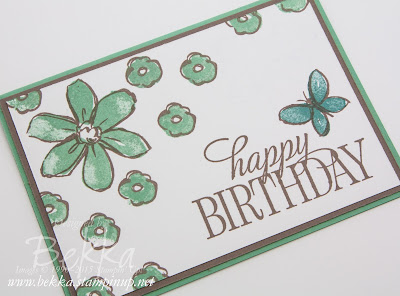 Make In A Moment - Beautiful Garden In Bloom Birthday Card