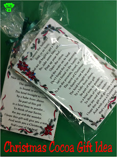 Christmas Cocoa Gift Idea by Kims Kandy Kreations.  Quick and Easy sweet gift idea.