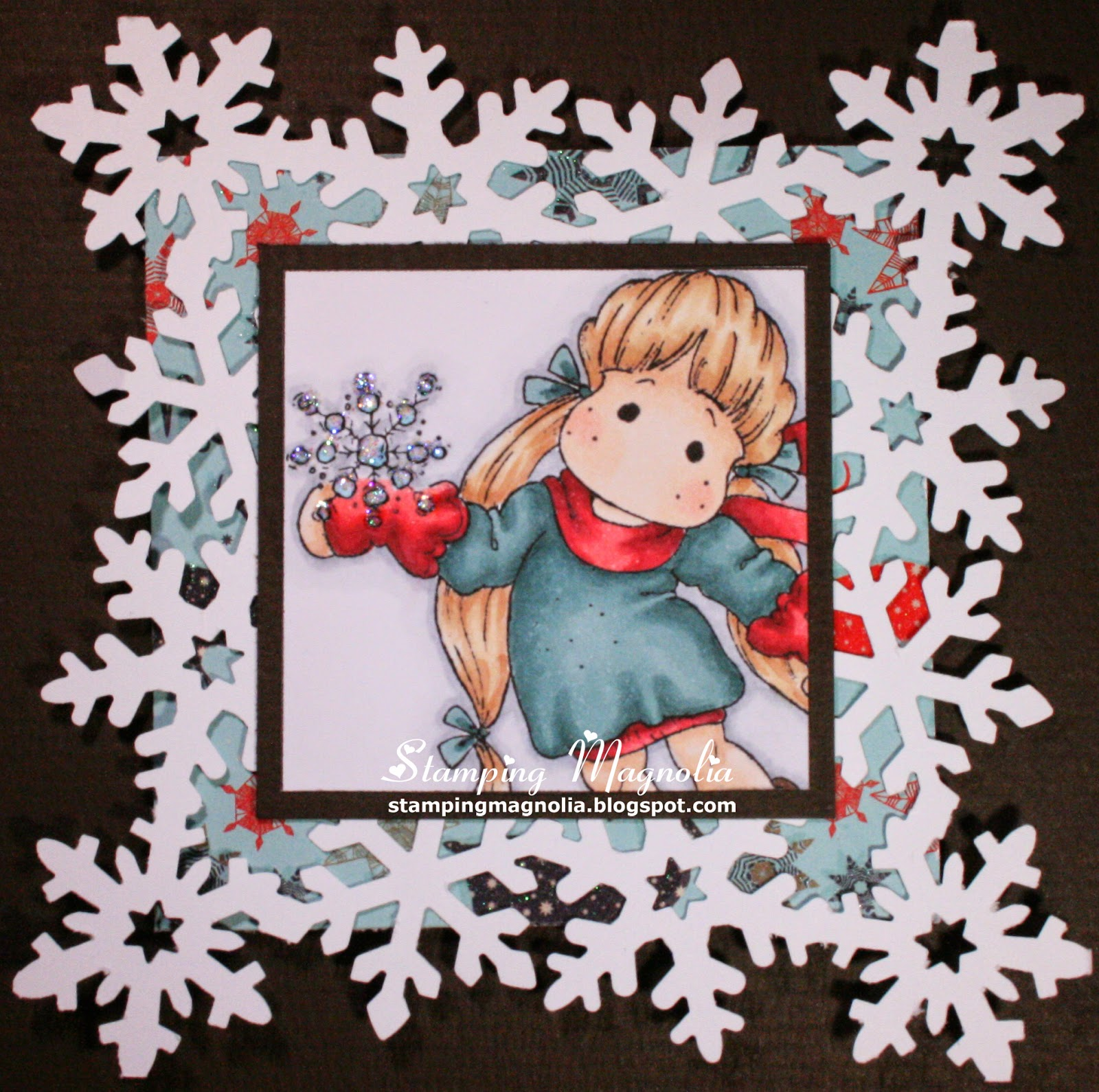 Coloring Magnolia Stamp A Christmas Story Collection - Snowy Tilda