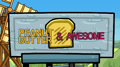 Scribblenauts Unlimited Peanut Butter & Awesome Sign