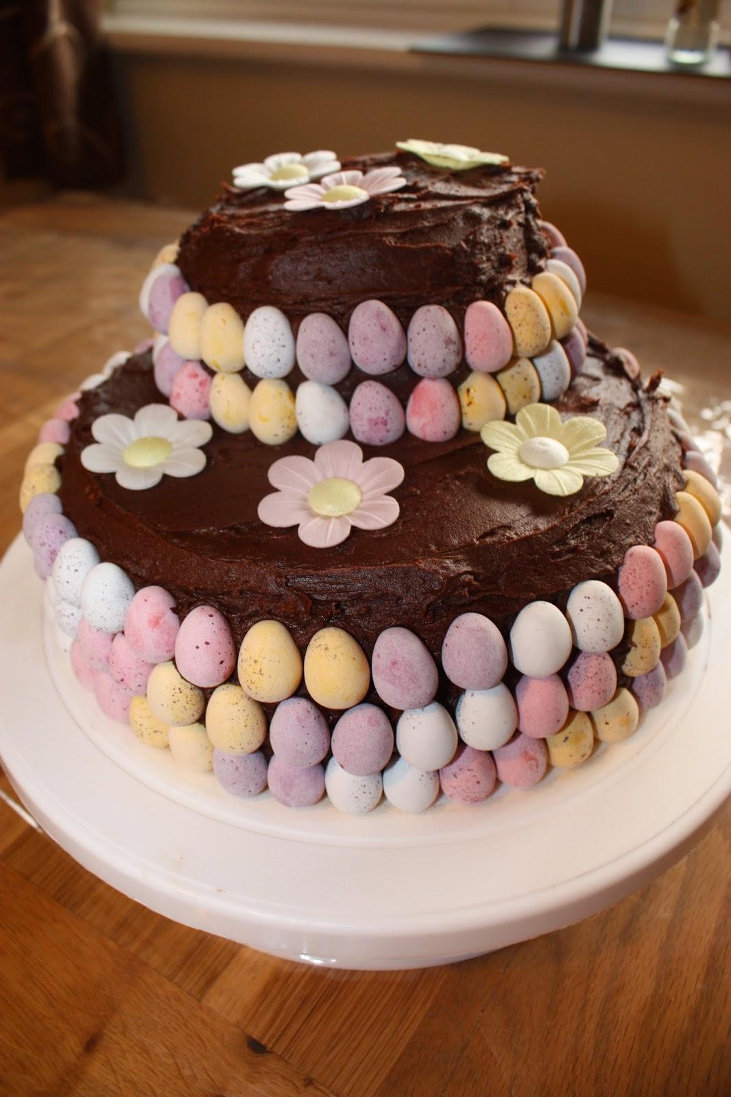 Cadbury Mini Egg Easter Cake With Flowers