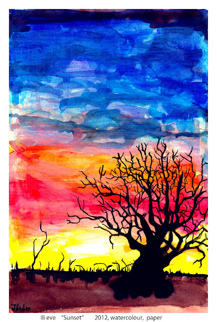 Ili Eve, Sunset, tree