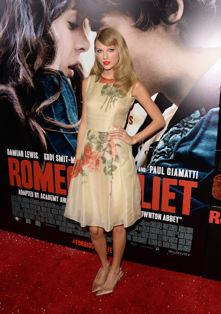 Actress, Singer, @ Taylor Swift at 'Romeo & Juliet' Premiere in Hollywood