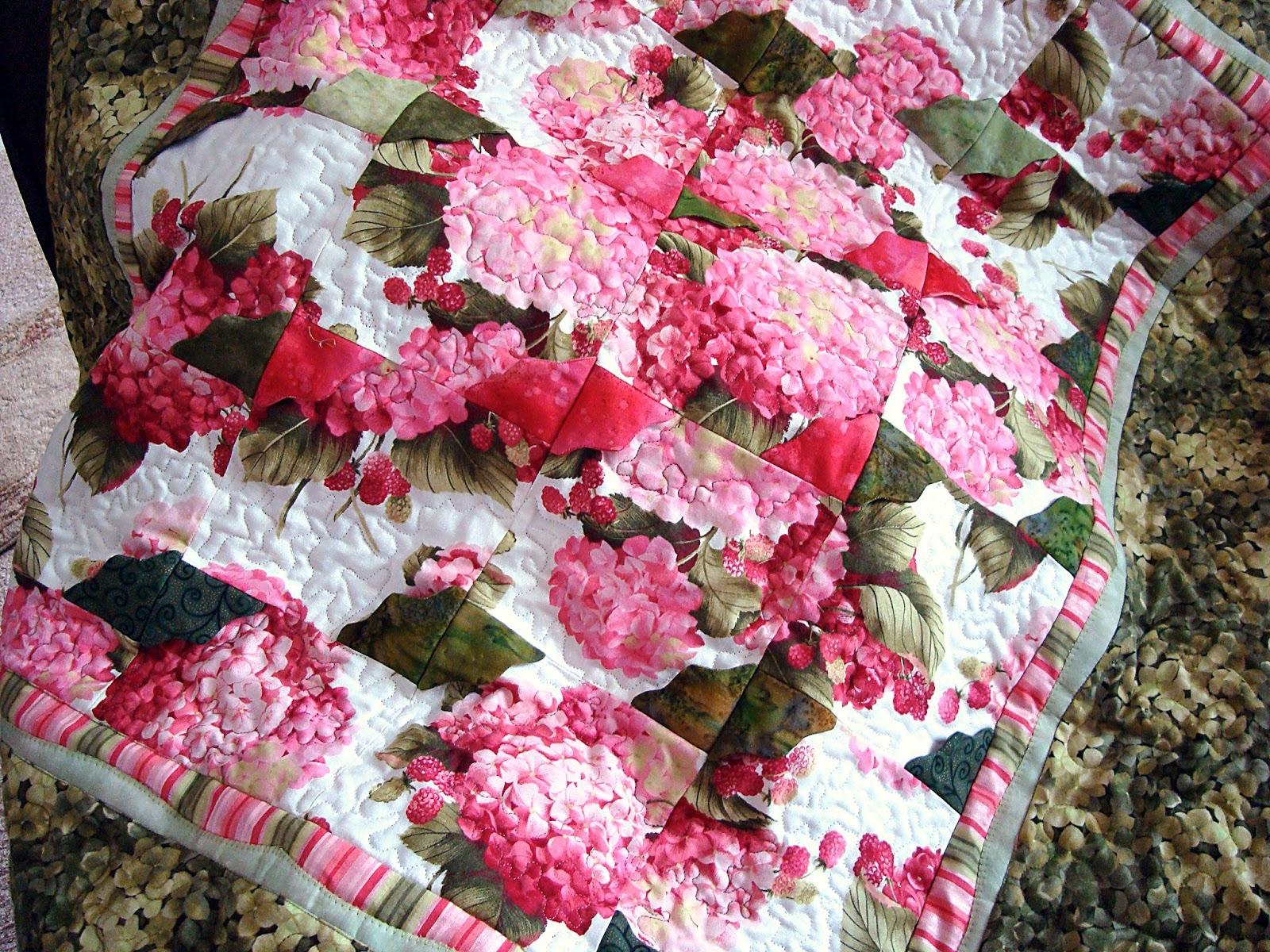 14peonystreet Pink Hydrangea Flower Garden Quilt Pattern