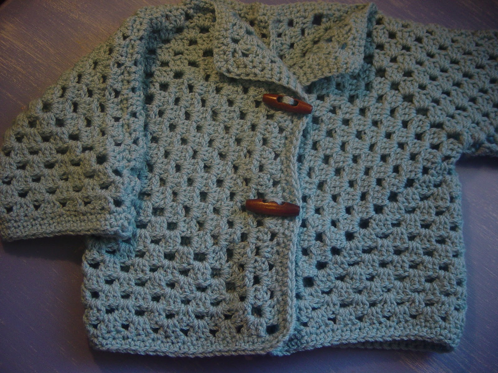 Flushed with Rosy Colour: Blue Toddler Jacket with wooden buttons