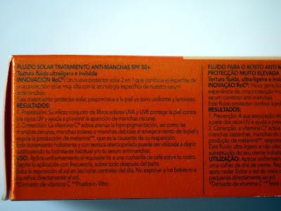 Fluido Solar Antimanchas SPF50 de RoC