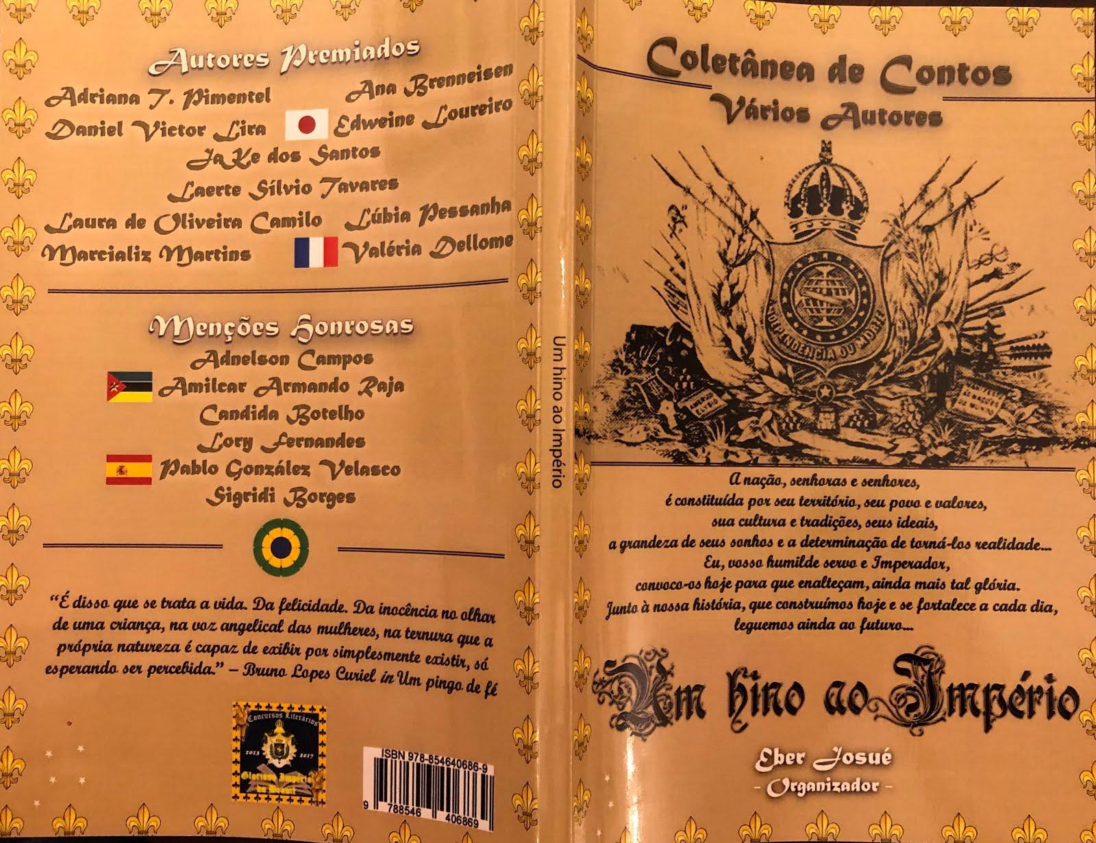 COLETÂNEA DE CONTOS - CONCURSO LITERÁRIO DA SÉRIE GLORIOSO IMPÉRIO DO BRASIL