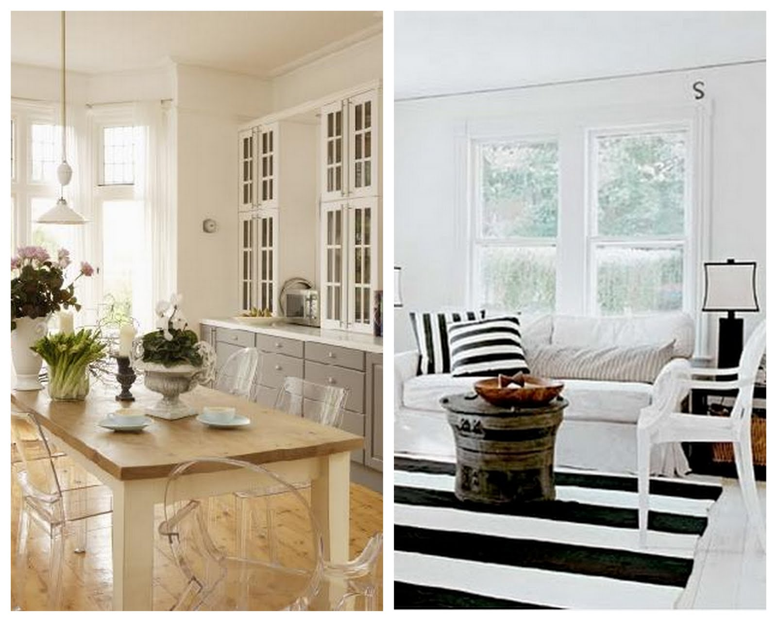 I Love Ghost Chairs. The Clear, Modern Silhouette Is Visually Unobtrusive  And Perfect When Working With A Small Space.