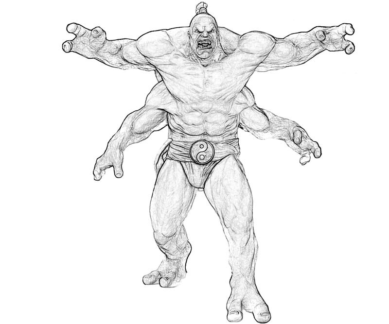 Mortal Combat Goro Ladder Cartoon Surfing