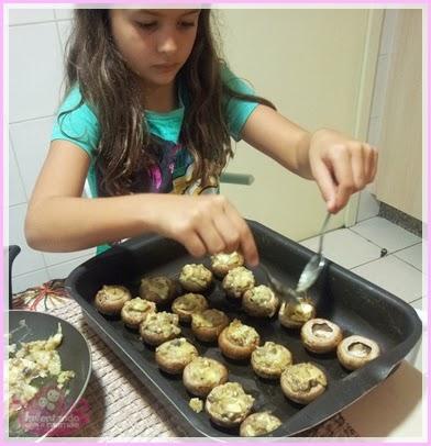 Receita de Cogumelos Recheados com Queijo Brie