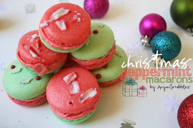 Peppermint Macarons w/Peppermint Buttercream @ Anyonita Nibbles