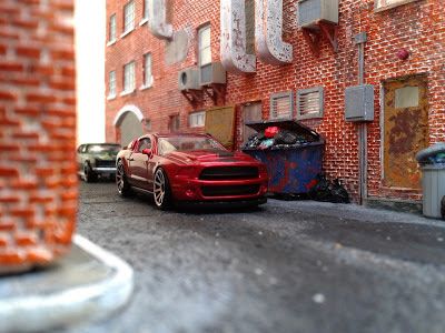 Downtown street diorama (1:64)