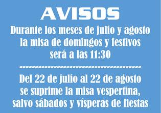 misas julio y agosto