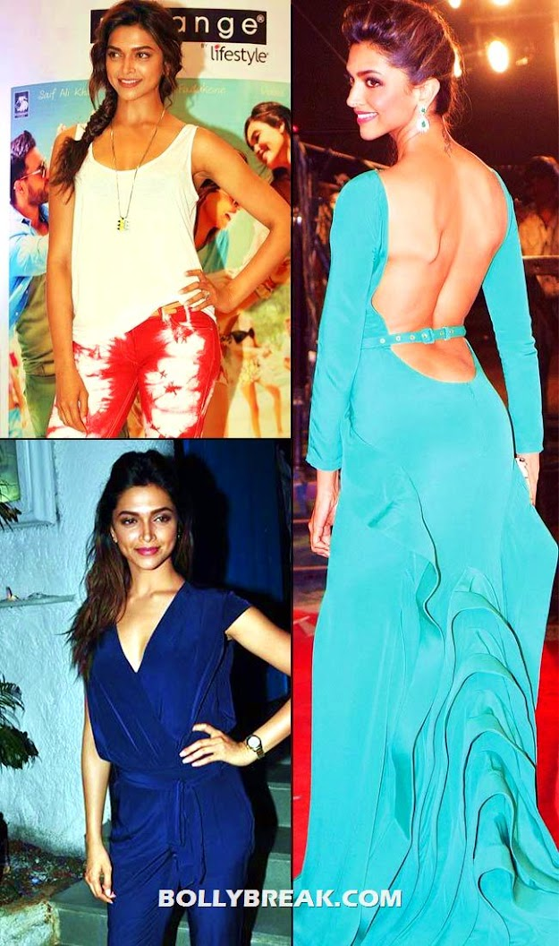 deepika looks very curvy in the teal dress - (4) -  Bollywood Babes no longer size zero