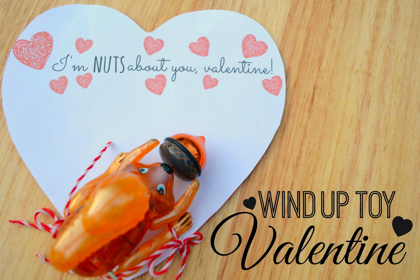 Mommy Testers, wind up toy valentine, zwindups valentine, squirrel valentine, nuts about you valentine, Kids toy valentine