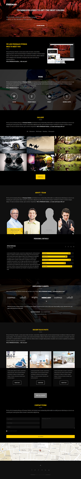 Multipurpose One Page Joomla Theme