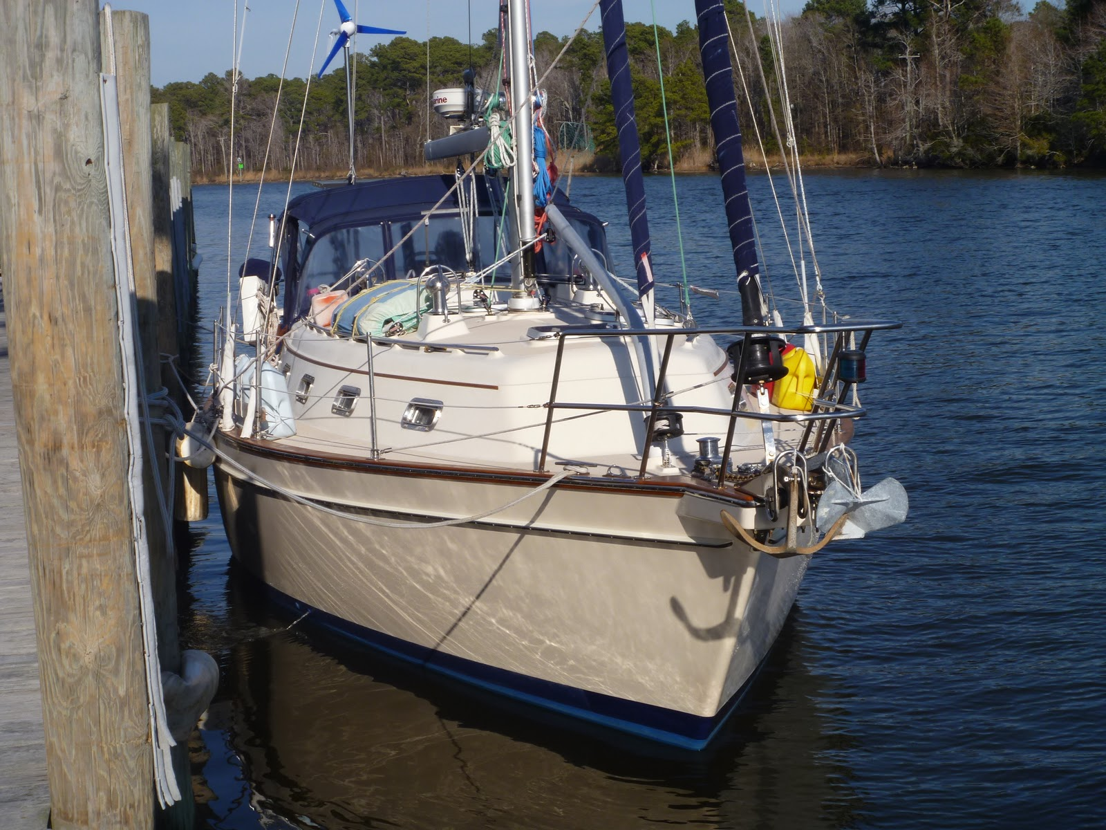 ... this is Tides Inn, our Island Packet 380 cutter rig sailboat.