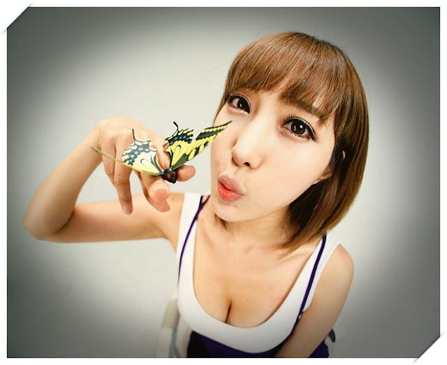 4 Im Min Young - White and Purple-Very cute asian girl - girlcute4u.blogspot.com