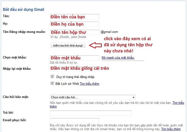 thư gmail và gửi thư bằng tài khoản Gmail | DANG NHAP GMAIL