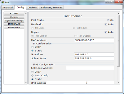 config ip address PC