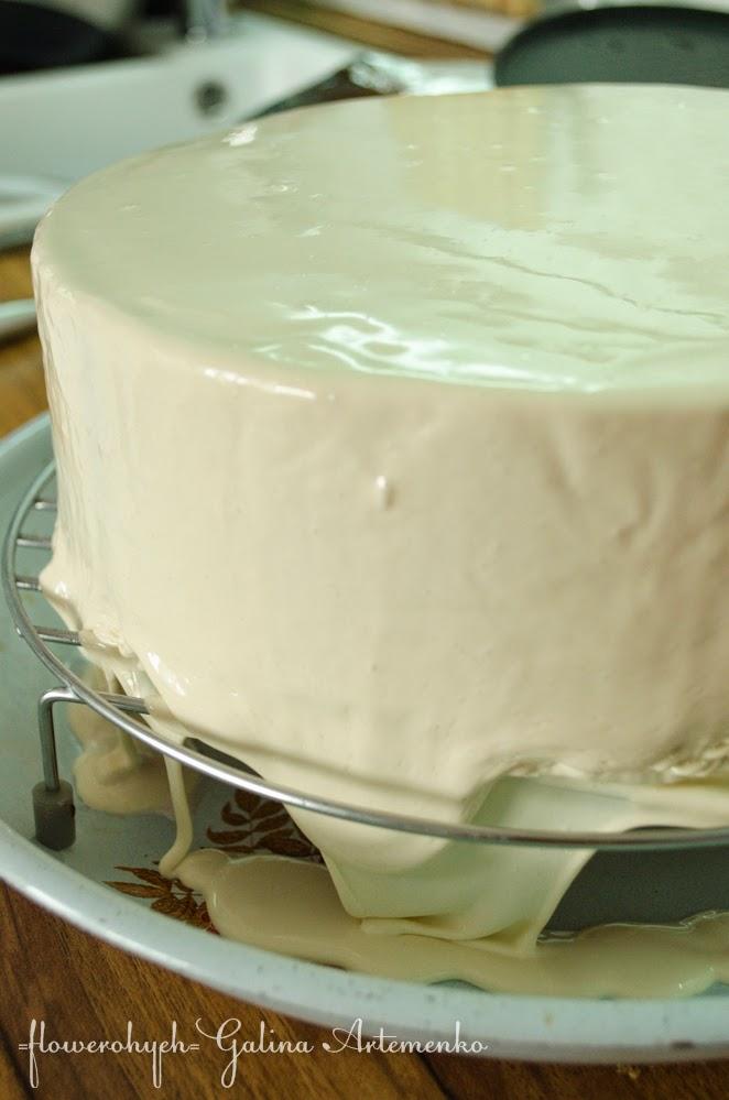 Зеркальная глазурь для торта белая