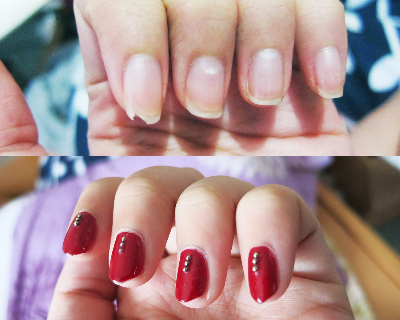 Nail Art: Maroon Embellished Claws