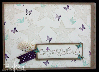 Material Monday Fabric Butterfly Accent Card