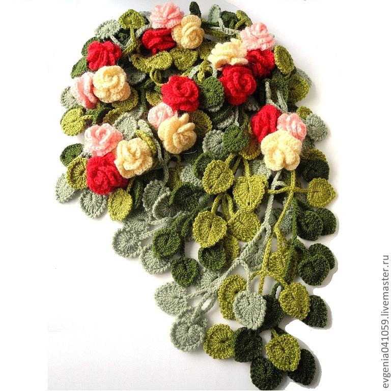 цветочные шарфы как вязать добавьте объявление избранное