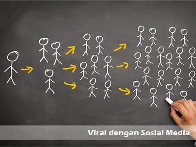 viral dengan sosial media