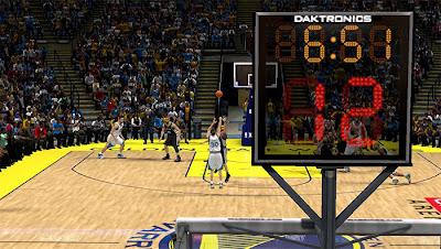NBA 2K13 Realistic Shot Clock Texture Mod