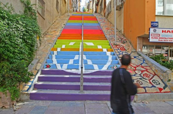 colored stairs idea - Izmir, Turkey