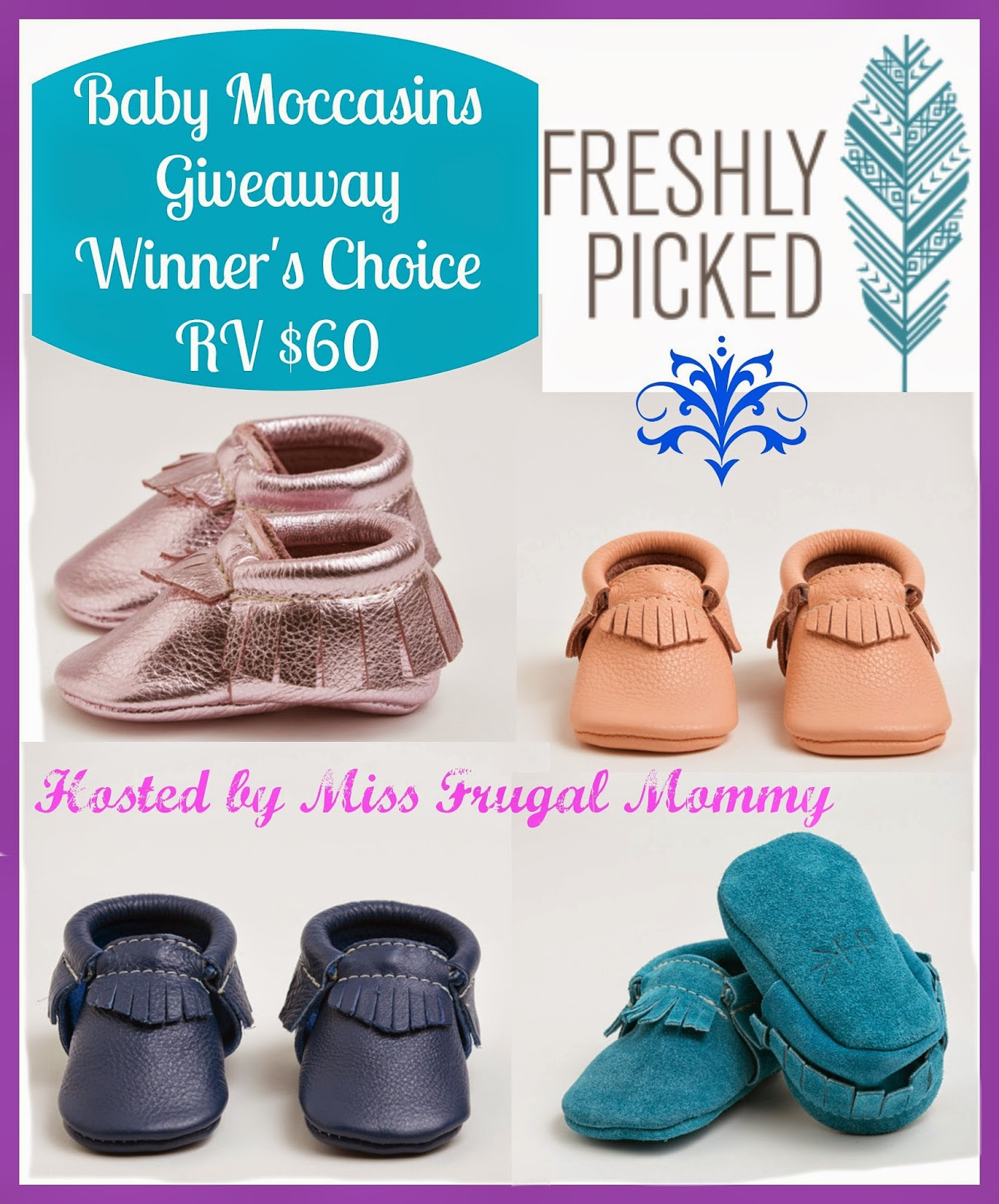 Freshly Picked Baby Moccasins Giveaway