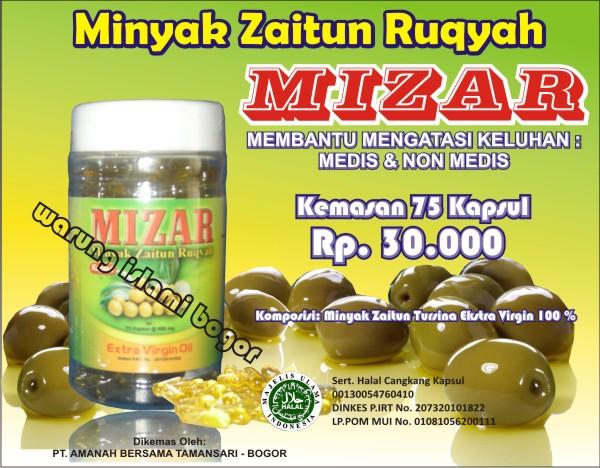 Jual Minyak Zaitun Ruqyah (MIZAR Kapsul Praktis isi 75 kapsul)